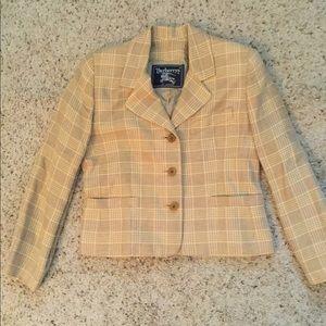 Burberry Jackets & Coats - BURBERRY NOVACHECK PLAID LINEN JACKET BLAZER, NWOT